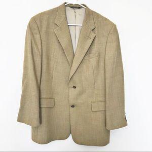 BURBERRY Vintage Tan Two Button Blazer